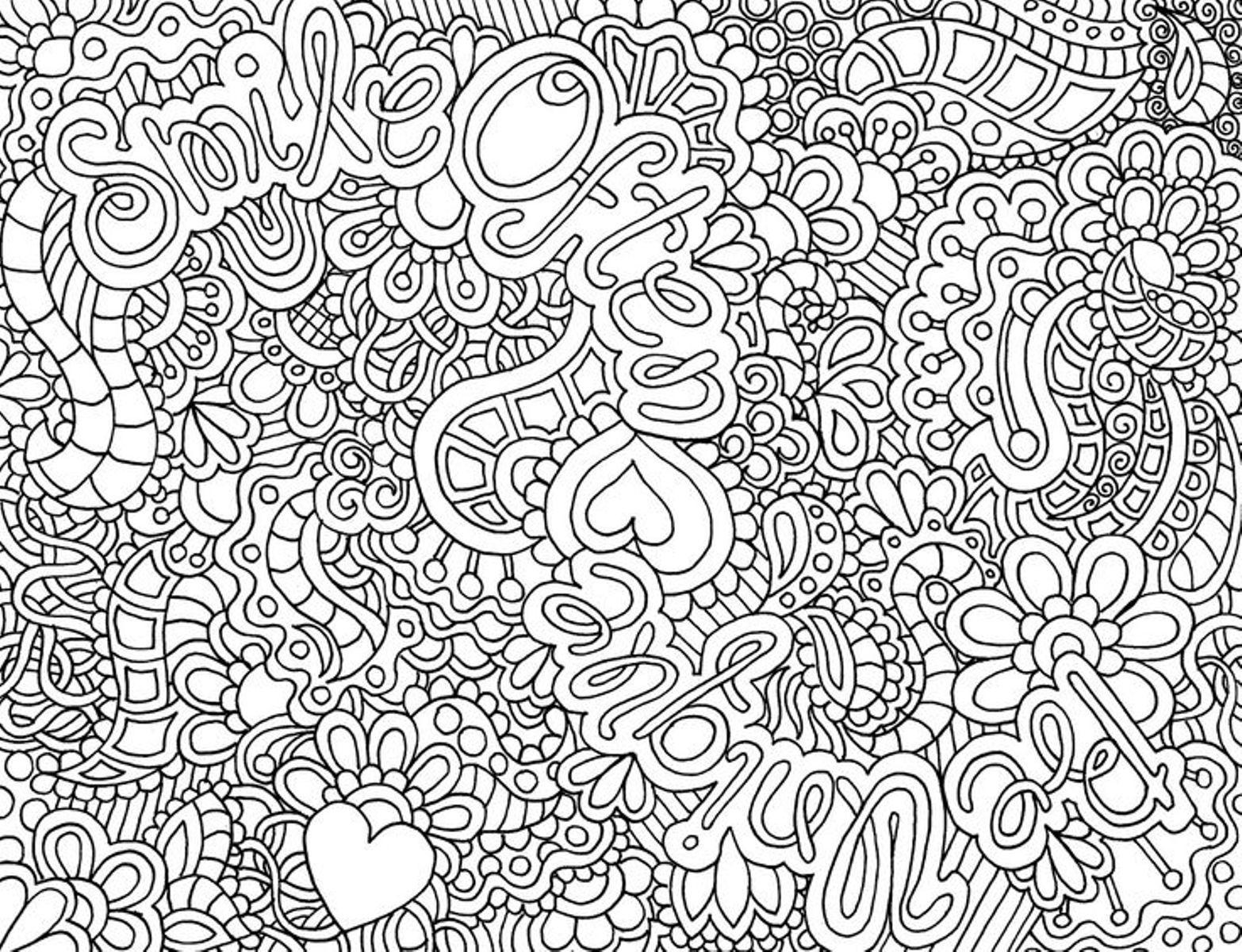 Узоры из цветов и сердечек Раскраски с цветами распечатать бесплатно