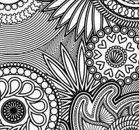 Узоры из цветов Раскраски с цветами распечатать бесплатно