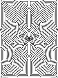 Прямоугольный узор из цветов Раскраски с цветами распечатать бесплатно