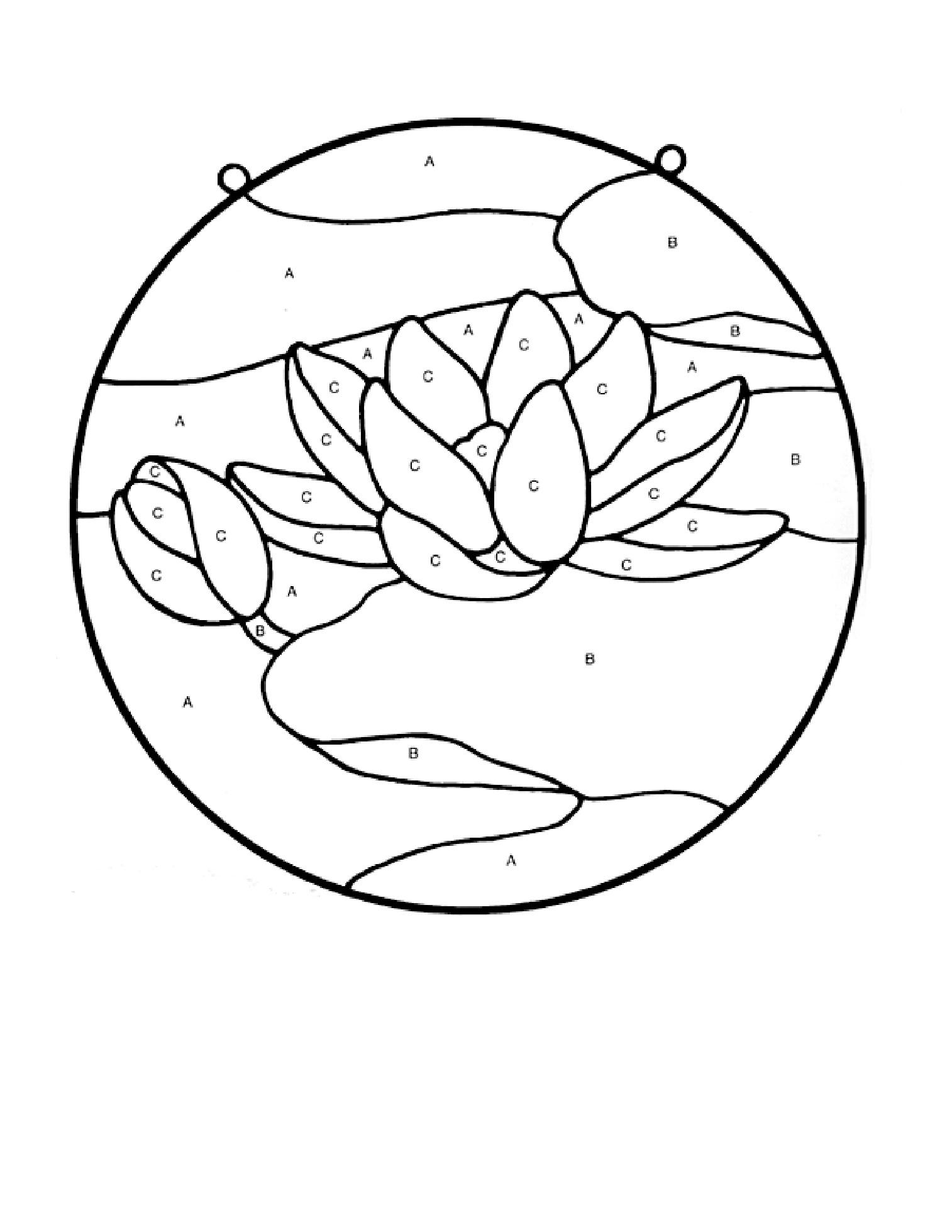 Лотос Раскраски с цветами распечатать бесплатно