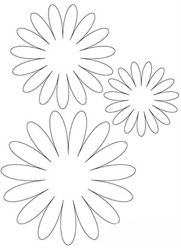 Шаблоны для вырезания Раскраски с цветами распечатать бесплатно