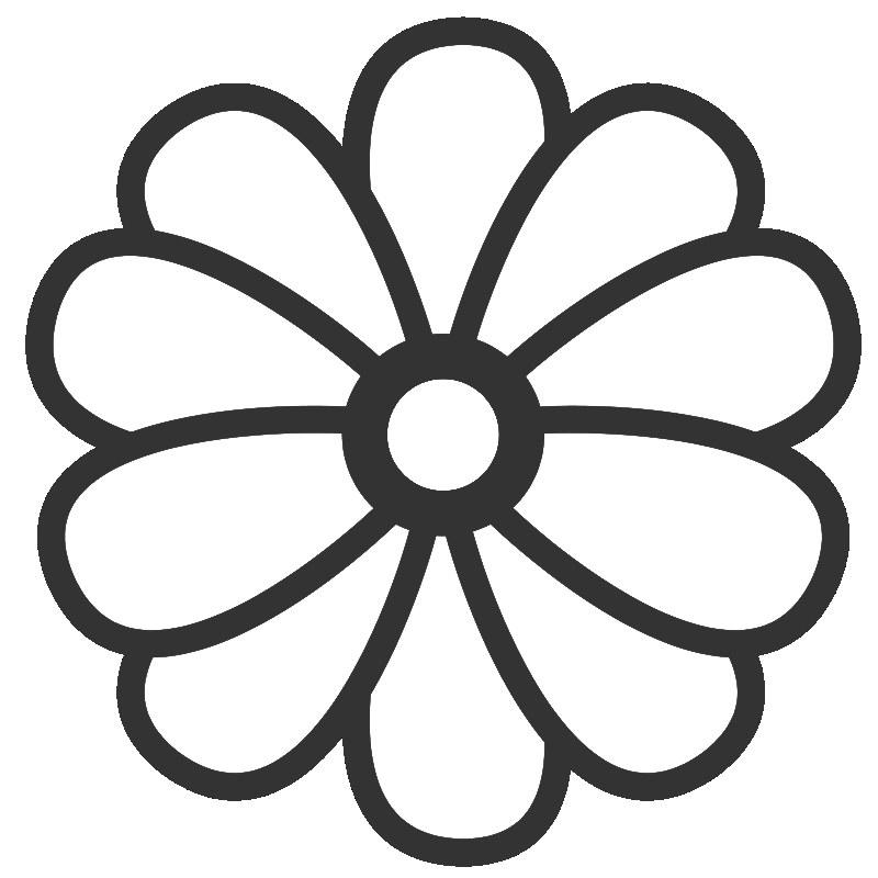 Раскраска цветов хризантема