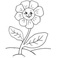 Смеющийся цветок Скачать раскраски с цветами