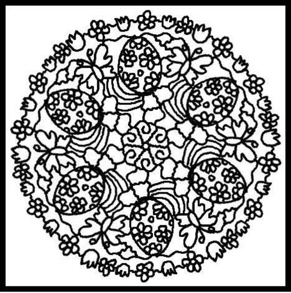 Клумба цветов орнамент Раскраски цветочки онлайн