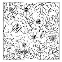 Клумба цветов узор Красивые раскраски цветов