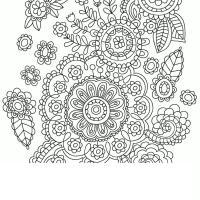 Арт терапия большие цветы Фото раскраски цветы