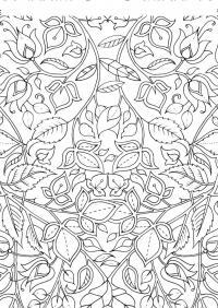 Арт терапия цветы и листья Фото раскраски цветы