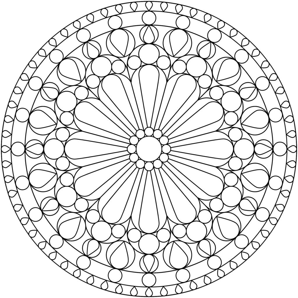 Узор Арт терапия узор с цветком в центре в круге Раскраски цветы скачать раскраски цветы