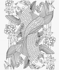 Арт терапия цветы и рыбы Фото раскраски цветы