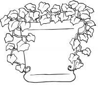 Вьющиеся цветы в горшке Детские цветы распечатать