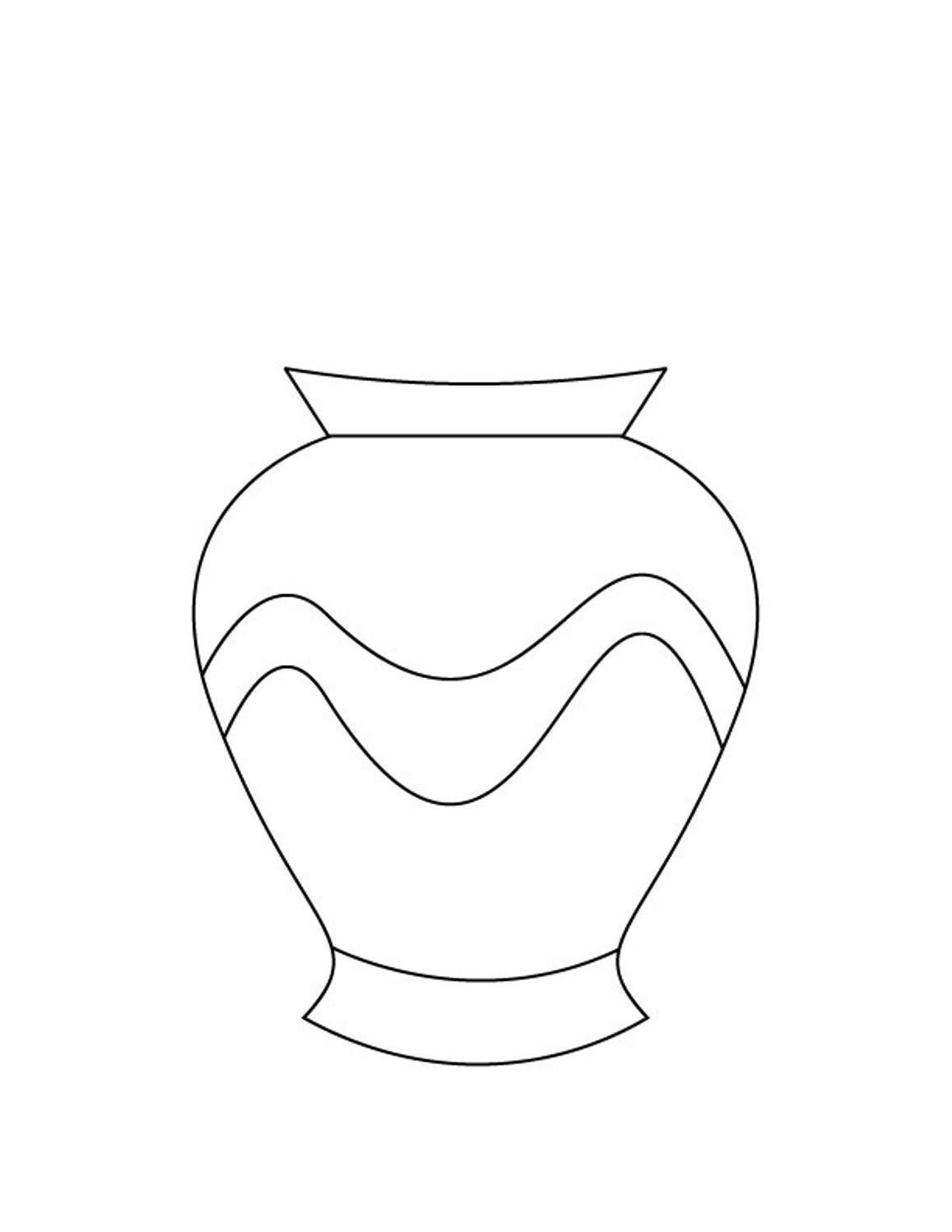 Раскраска ваза без цветов