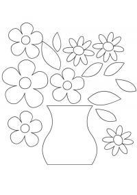 Раскраски ваза с цветами распечатать
