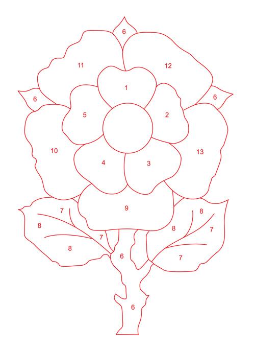 Контур цветка Раскраски с цветами распечатать бесплатно
