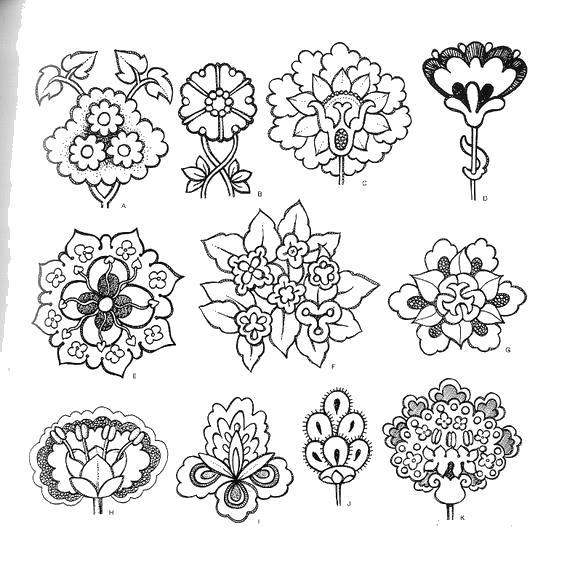 Контур цветка для творчества Распечатываем раскраски цветы бесплатно