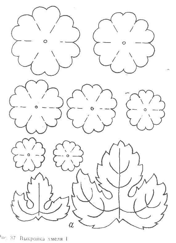 Выкройка цветка для поделок в детском саду Картинки раскраски цветы