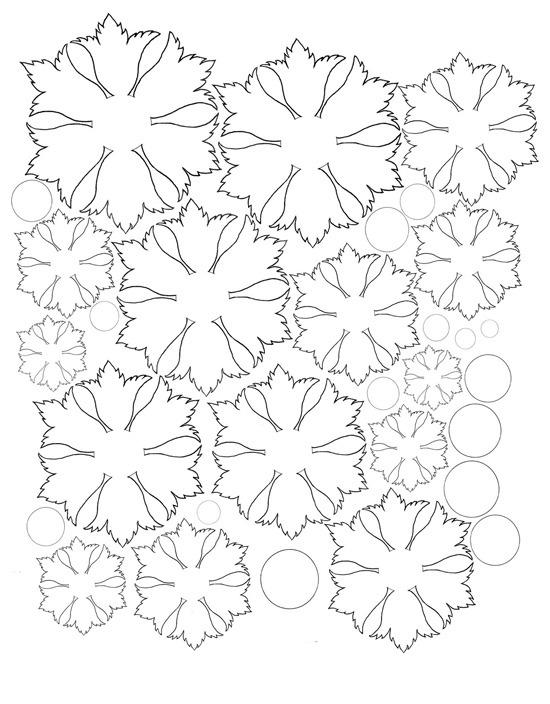 Выкройка цветка, красвые узоры Картинки раскраски цветы