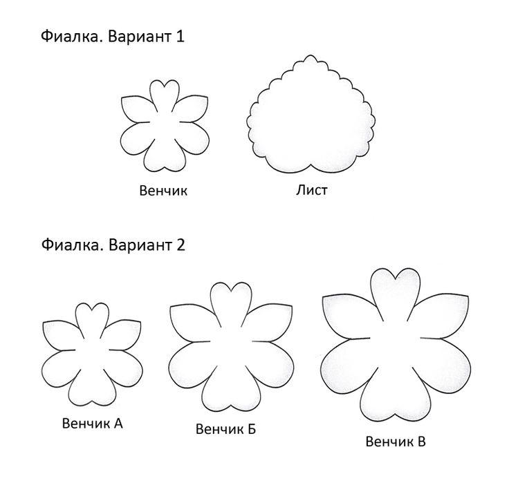Выкройка цветка Картинки раскраски цветы