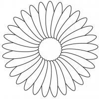 Цветы из элипсов цветы раскраски онлайн бесплатно