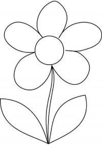 Для детского сада Фото раскраски цветы