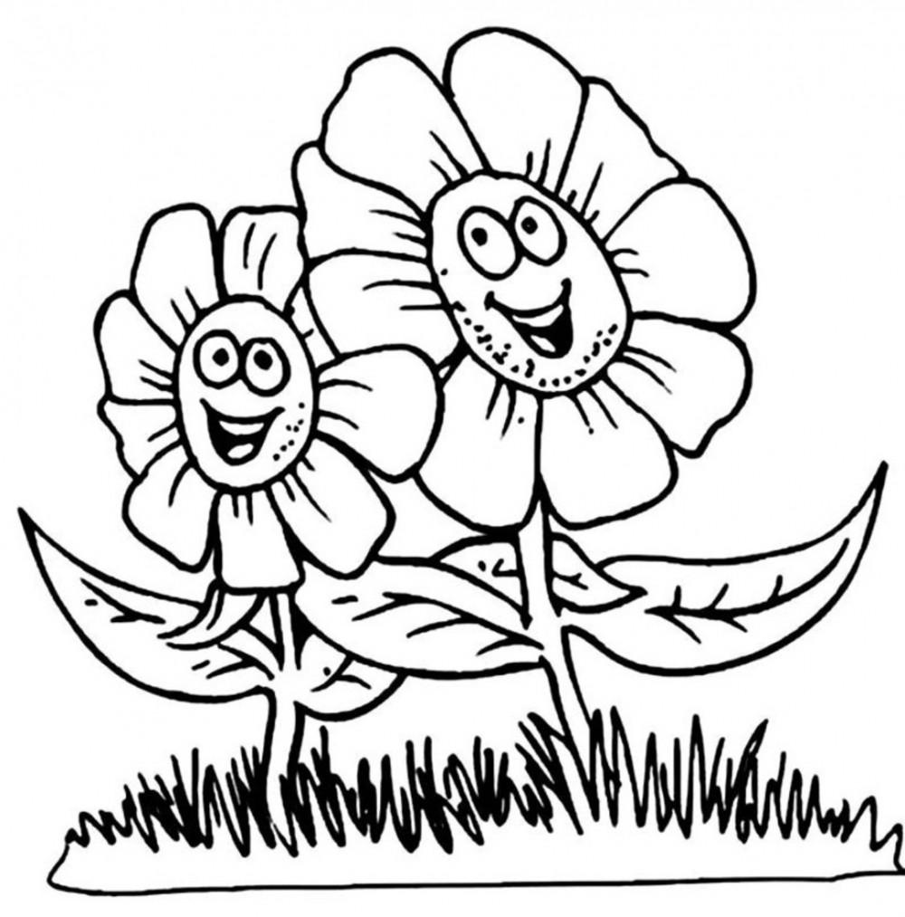 Для малышей Разукрашки цветы