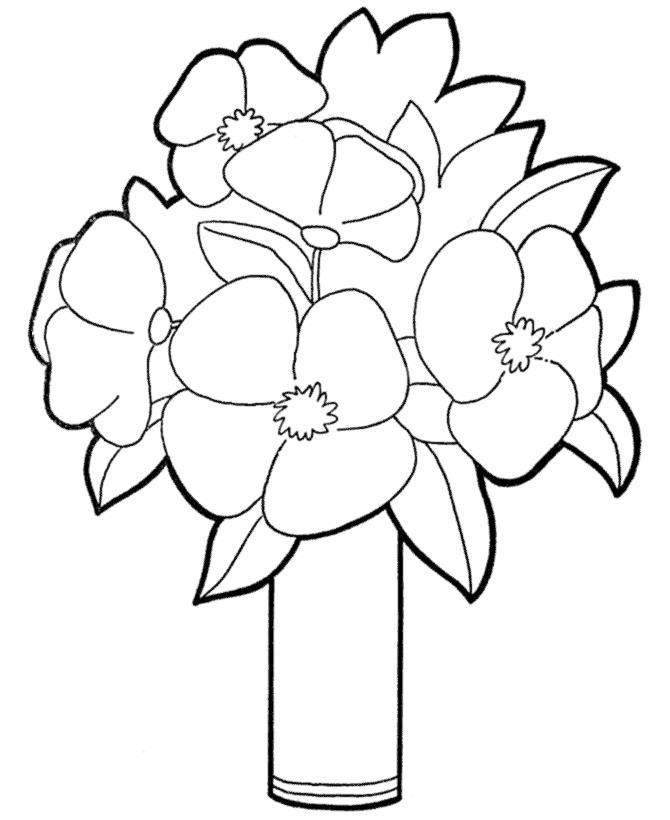 Цветы в вазе Для малышей цветы в вазе раскраски цветы