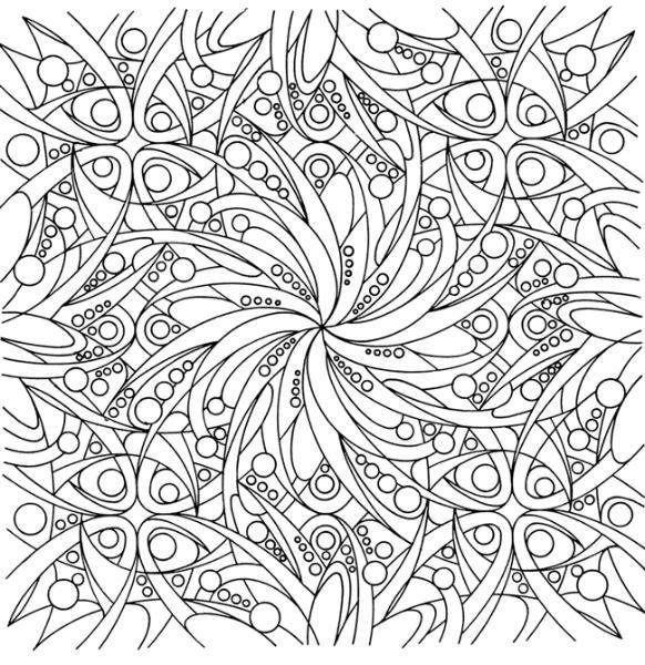 Сложные узоры с цветами Распечатываем раскраски цветы бесплатно