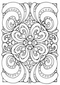 Сложные кружевные цветочные узоры Раскраски цветов скачать