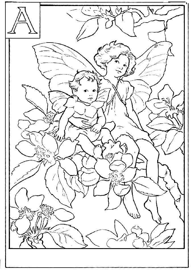 Сложные, феи в яблоневых цветах