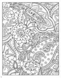 Сложные красивые узоры Раскраски цветов скачать