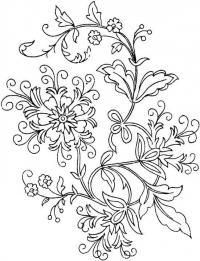 Цветы с завитушками цветы раскраски онлайн бесплатно