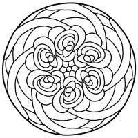 Цветы в круге Разукрашки цветы
