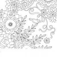 Узоры из цветов Распечатываем раскраски цветы бесплатно