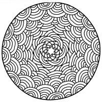 Цветы, узор георгин Разукрашки цветы