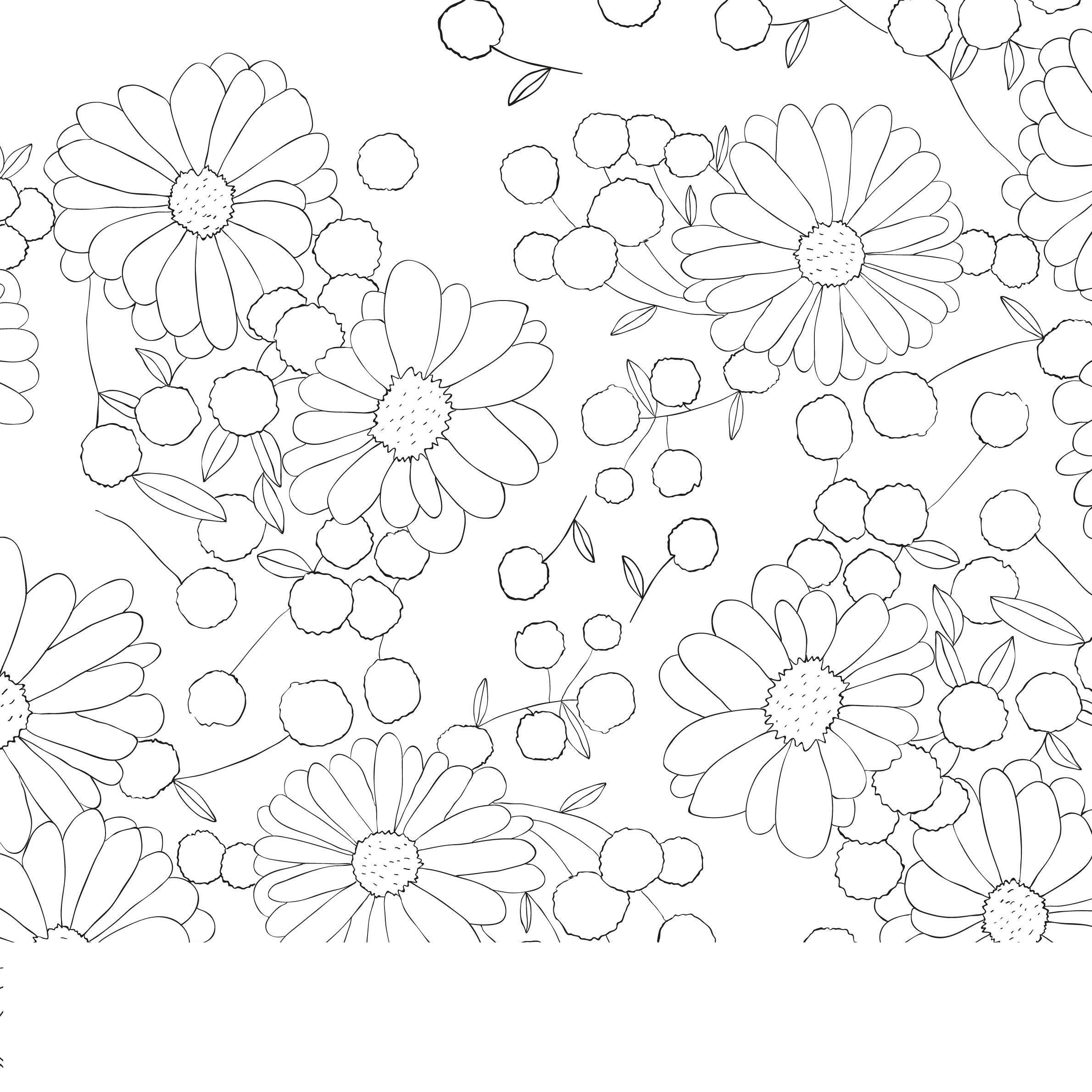 Узоры с цветами Раскраски с цветами распечатать бесплатно