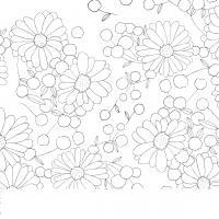 Узоры с цветами Распечатываем раскраски цветы бесплатно