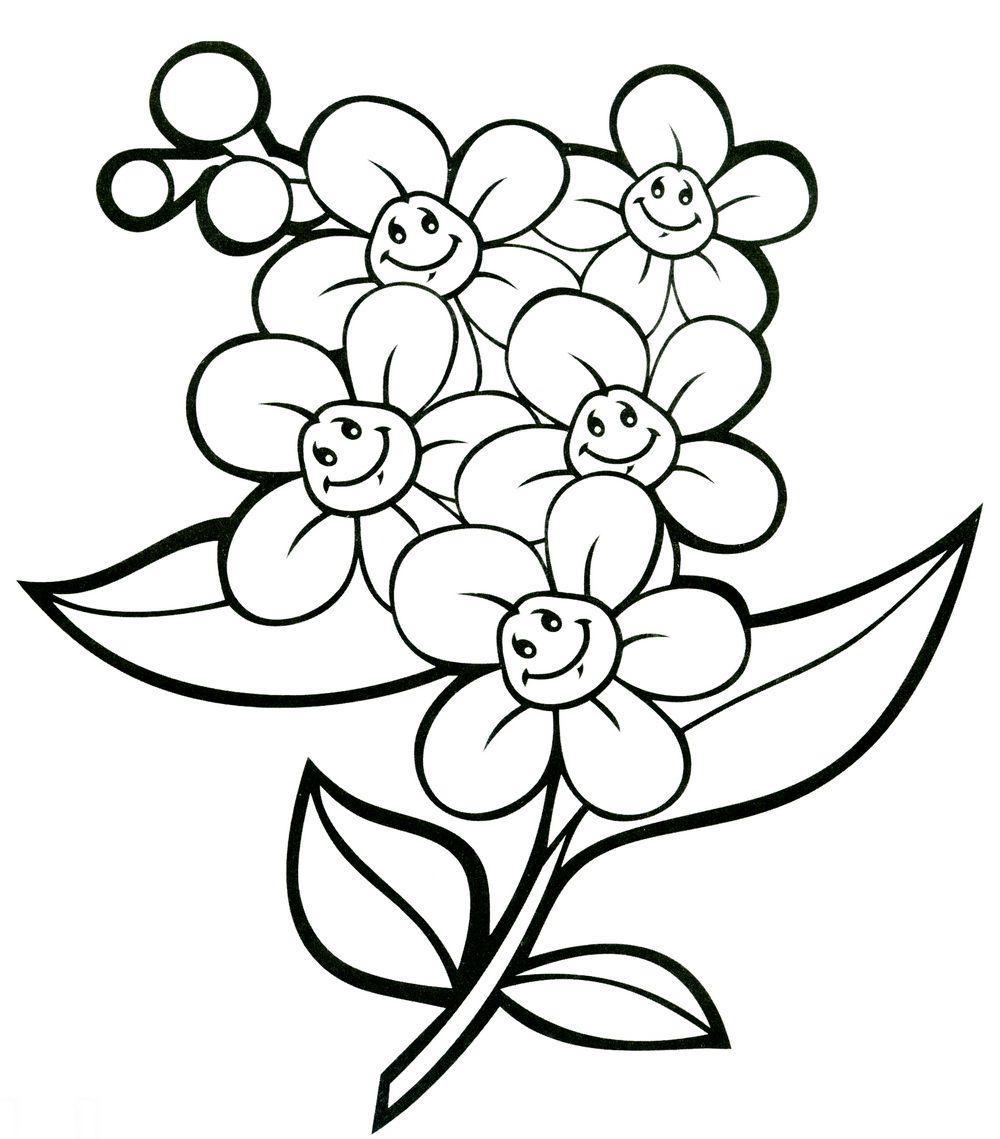Детская раскраска. незабудка Раскраски цветы скачать