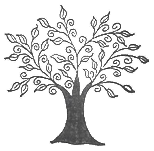 Волшебное дерево Новые раскраски цветы