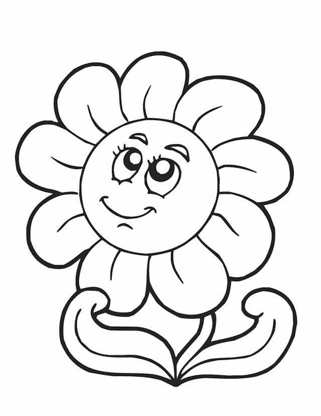 Раскраска ромашка для детей
