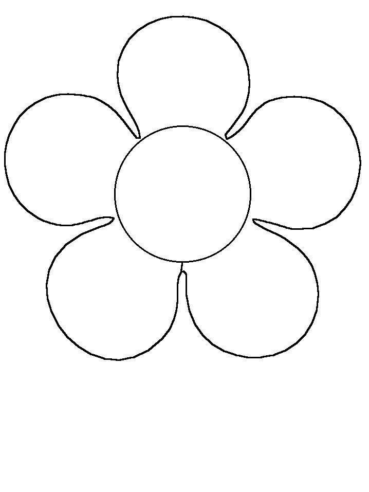 Контур цветка Раскраски детские с цветами