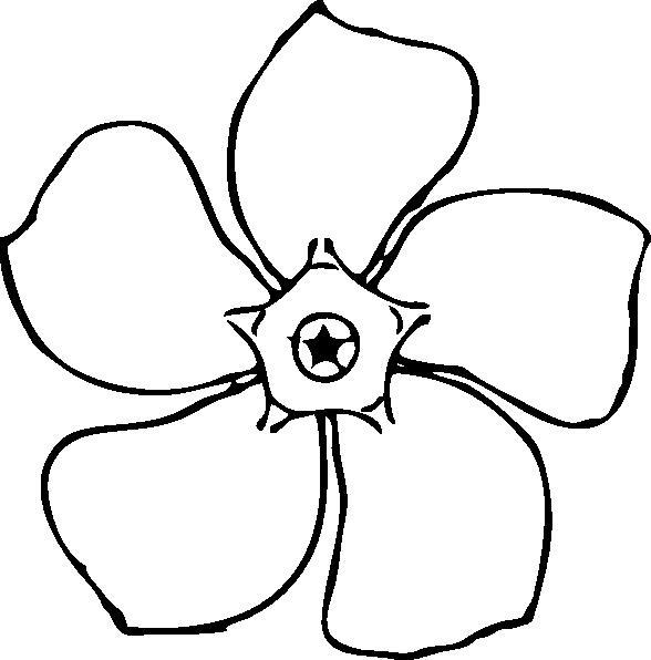 Цветочек Раскраски детские с цветами