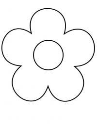 Простой контур цветы самым маленьким Раскраски детские с цветами