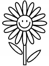 Ромашка для малышей Раскраски детские с цветами