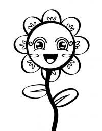 Цветочек девочка Раскраски детские с цветами