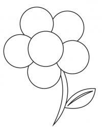 Цветок для малышей из кругов Раскраски детские с цветами