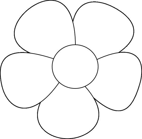 Крупный простой цветок Раскраски детские с цветами