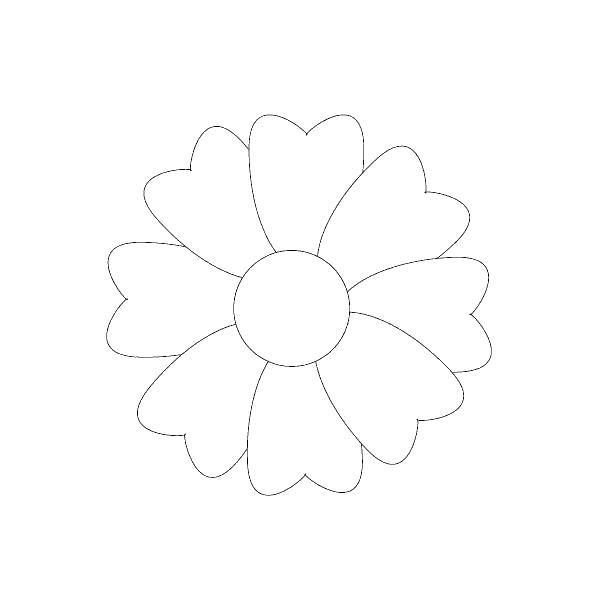 Простой контур цветка Раскраски детские с цветами