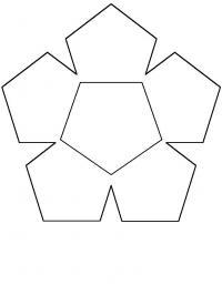 Цветок из геометрических фигур Раскраски детские с цветами