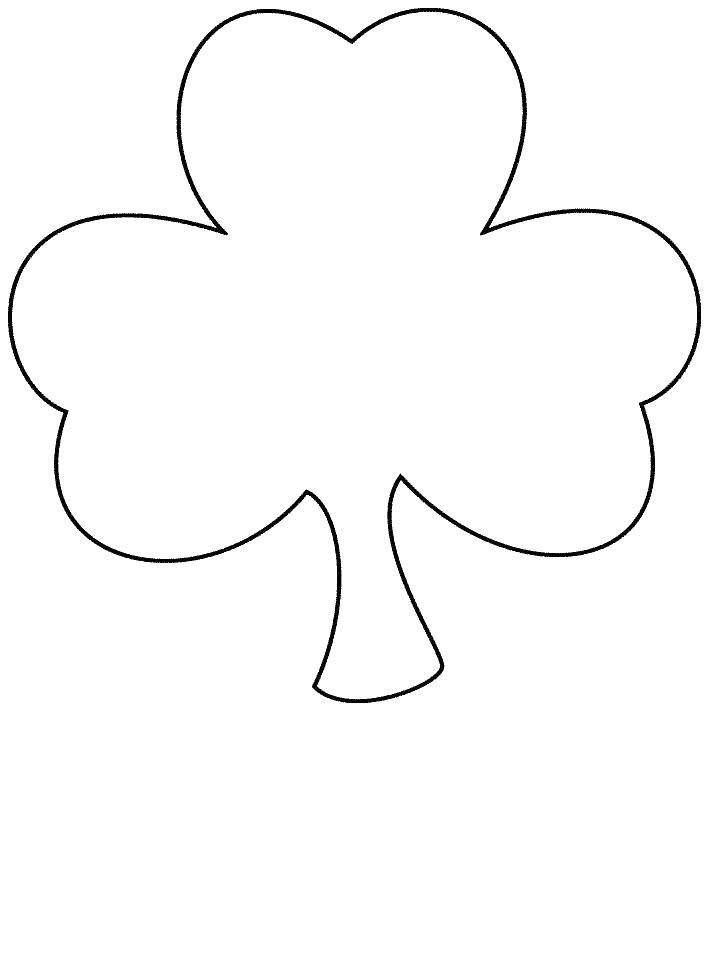 Контур клевера Детские цветы распечатать