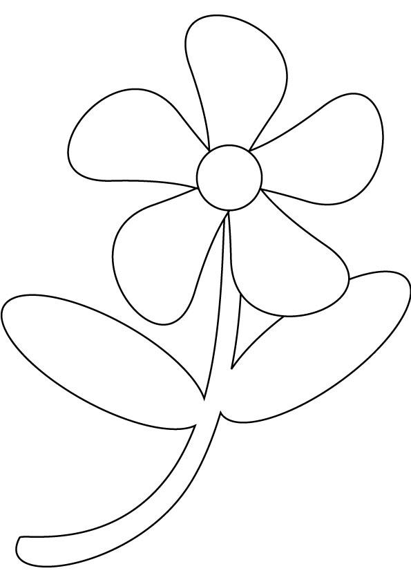 Контур для аппликации Раскраски с цветами распечатать бесплатно