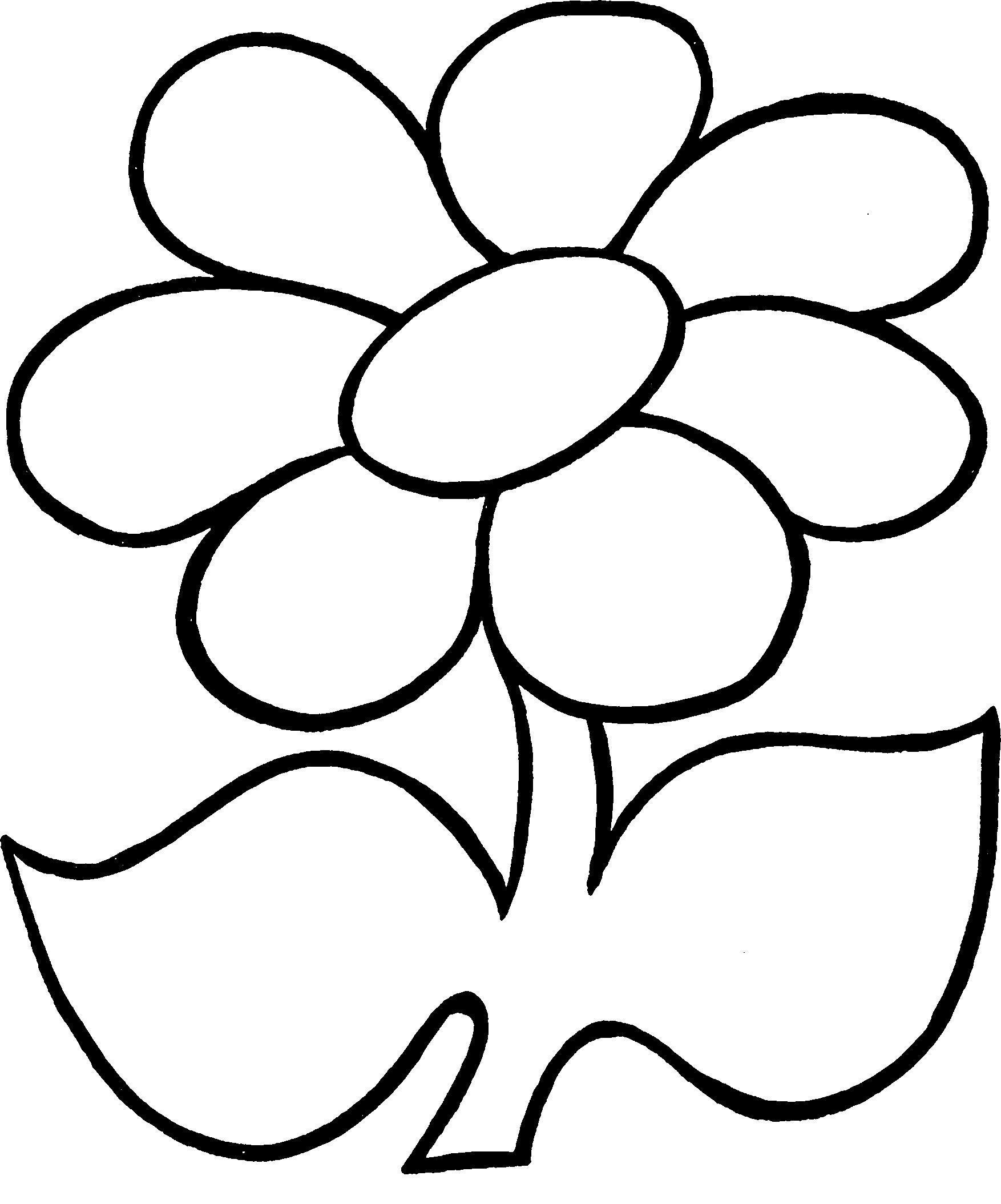 Цветок рисунок контур